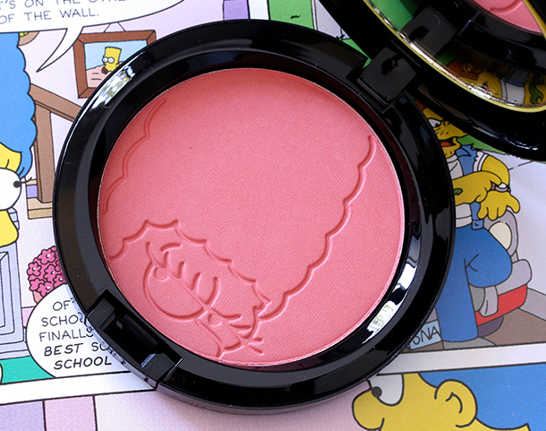MAC Simpsons Powder Blush in Sideshow You (online exclusive; $24 U.S.;$28.50 CAD)