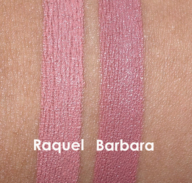 NARS Raquel and Barbara Swatches