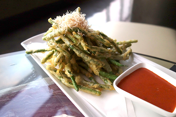 Nest at WP24 Tempura Green Beans