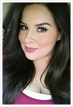 Vanessa Haro wearing Black Honey Almost Lipstick from Clinique