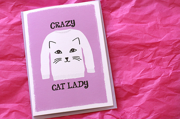 Crazy Cat Lady Card