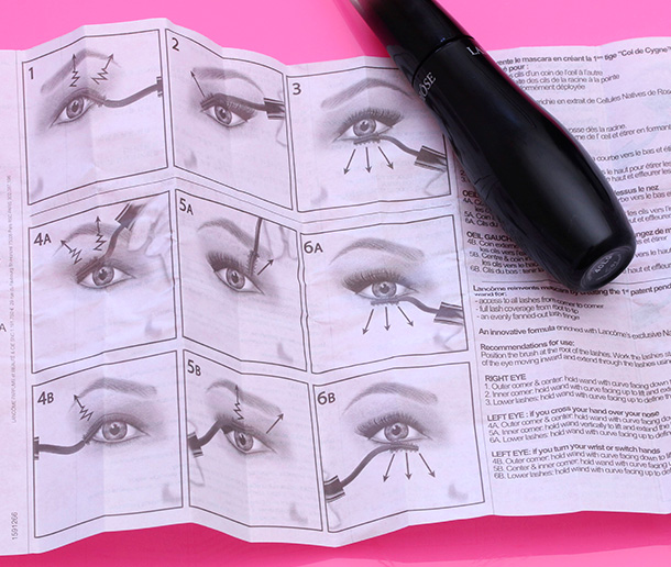 Lancome Grandiose Mascara instructions