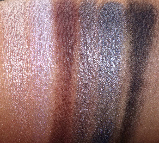 MAC Rocky Horror Riff Raff Swatches