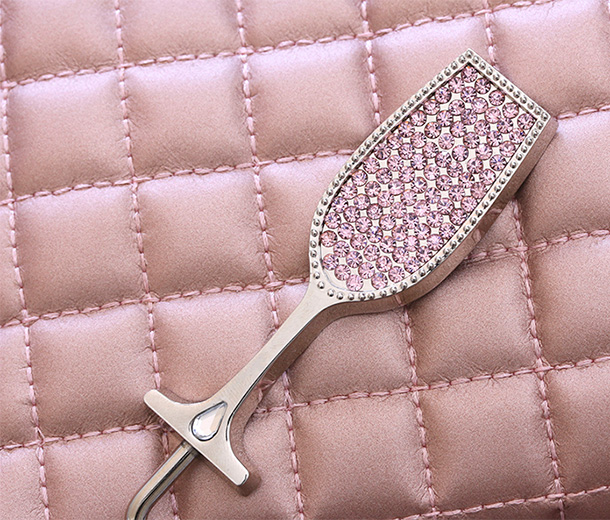 Pink Champagne Purse Holder