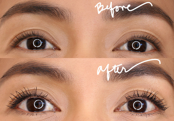 Smashbox Full Exposure Waterproof Mascara before and after