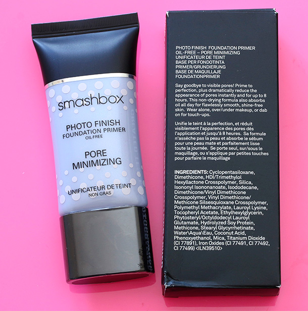 Smashbox Photo Finish Oil Free Foundation Primer Pore Minimizing ingredients