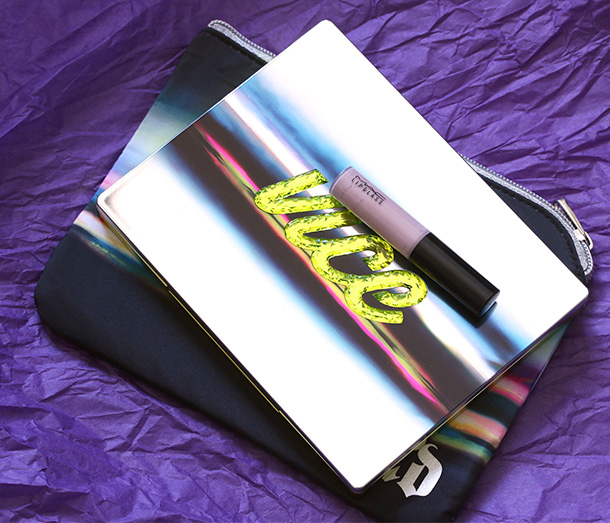 Urban Decay Vice3 with a MAC Lipglass for scale