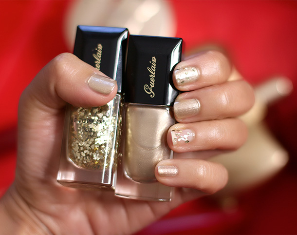 Guerlain Le Vernis Nail Lacquer in 400 Coque d'Or and 901 L'Oiseau de Feu