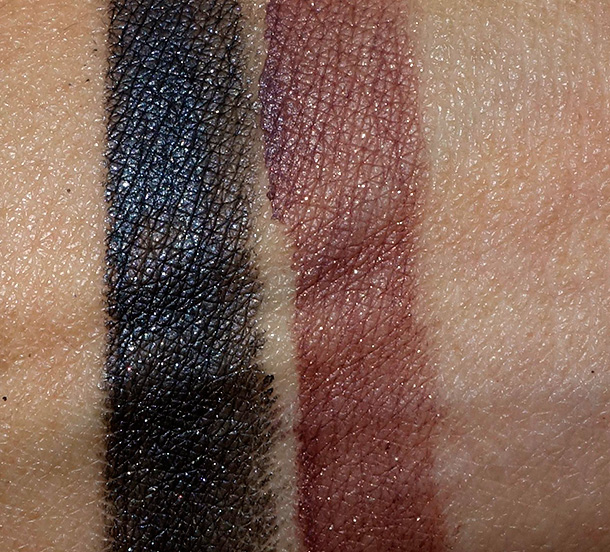 MAC Heirloom Mix Fluidlines in Dark Majesty (left) and Gentrified (right)