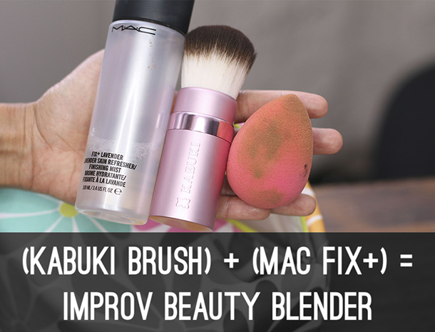 Make an Improv Beauty Blender on the fly
