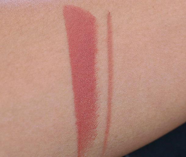 MAC Matte Lipstick in Pander Me (left) and Pro Longwear Lip Pencil in Etcetera