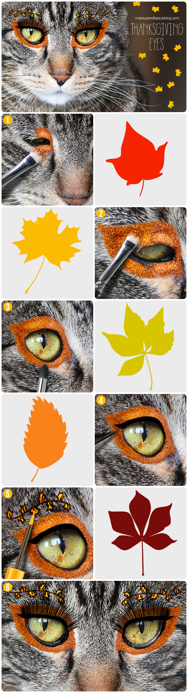 A Thanksgiving Makeup Look by Tabs the Cat