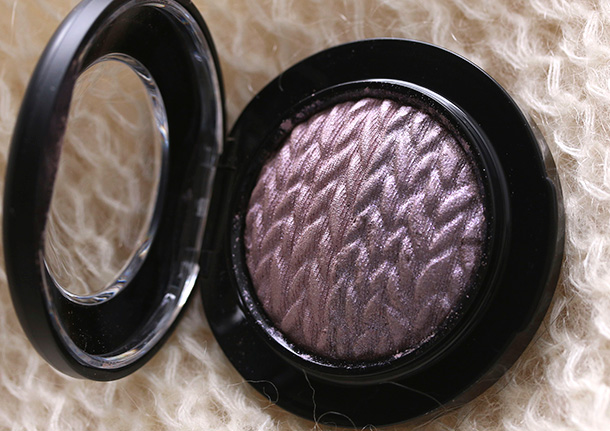 MAC Mineralize Eye Shadow in Leap, a shimmery lavender with half pearl/half frost finish