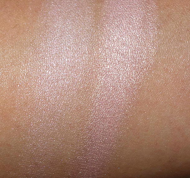 MAC Lightness of Being Mineralize Skinfinishes in Lightscapade (left) and Perfect Topping (right)