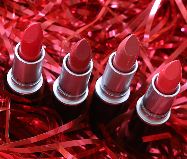 MAC Red Red Red Lipsticks