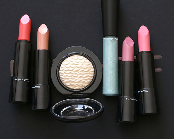 A MAC Rainbow with makeup from the new Lightness of Being collection