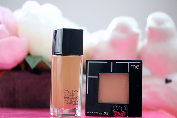 Maybelline Fit Me Foundation and Powder in shade 240