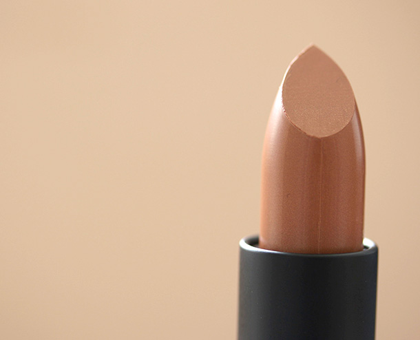 NARS Lipstick in in Liguria, a pearly golden nude caramel ($26)