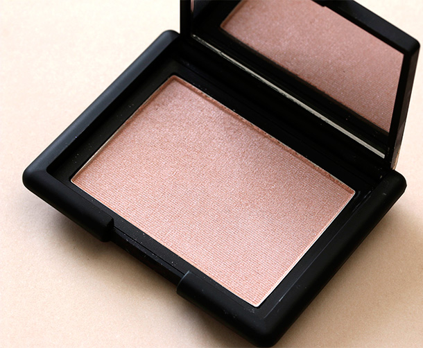 NARS Blush in Reckless, a sheer pink with silver shimmer ($30)