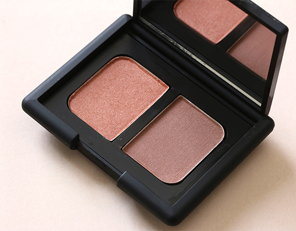 NARS Duo Eyeshadow in St-Paul-De-Vence, a shimmery warm nectarine and a satiny warm chestnut ($35)