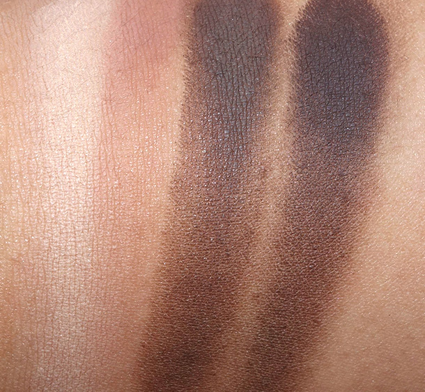Tarte Tartelette Swatches from the left: Free Spirit, Force of Nature, Dreamer and Multi-Tasker