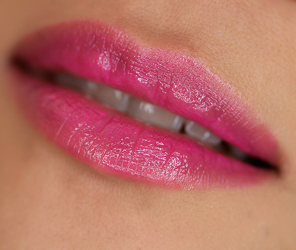 Urban Decay Sheer Revolution Lipstick in Sheer Anarchy, a a sheer fuchsia