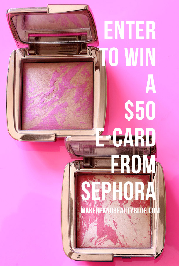 Win a $50 Sephora e-gift card from Makeup and Beauty Blog