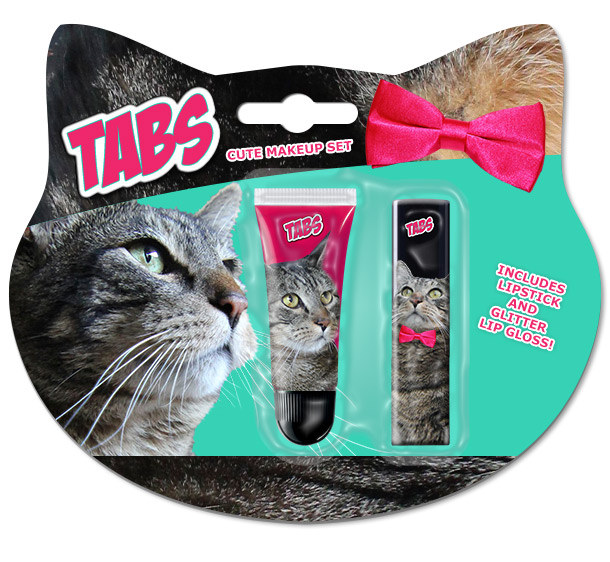 The new Tabs the Cat Makeup Set
