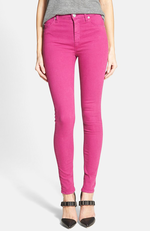 Hudson Jeans Krista Super Skinny Jeans in Bright Hydrangea