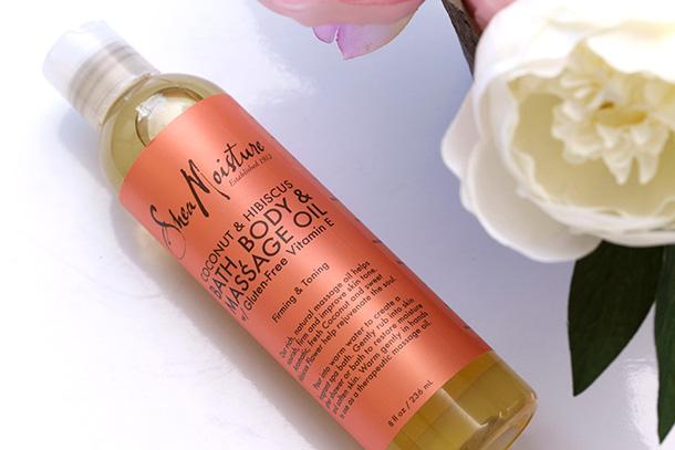 Shea Moisture Coconut & Hibiscus Bath & Body Massage Oil, $9.99