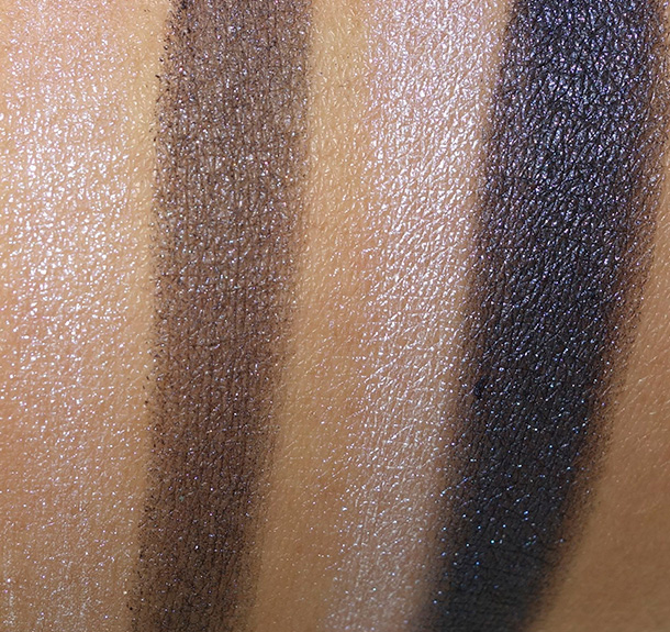 Tom Ford Eye Color Duo in Crushed Indigo dry (on the left) and wet (on the right)