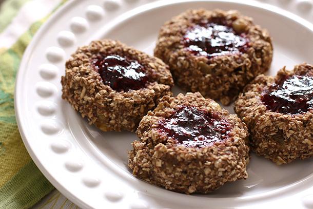 Flourless Thumbprint Oatmeal Breakfast Cookies
