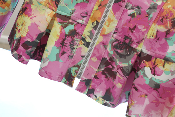 Macy's INC International Concepts Floral-Print Peplum Scuba Jacket