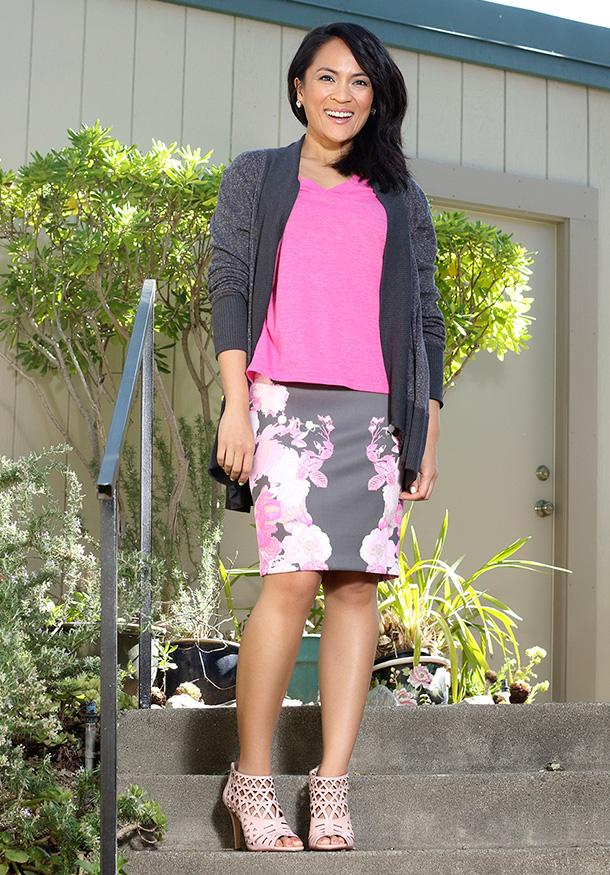 Macy's INC International Concepts Floral-Print Pencil Skirt