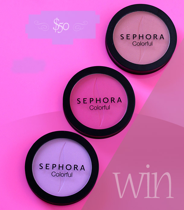 Win a $50 Sephora e-card from Makeup and Beauty Blog