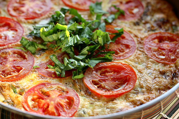 potato tomato frittata