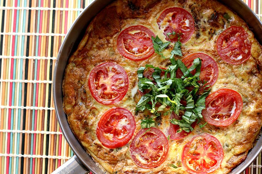 potato tomato frittata