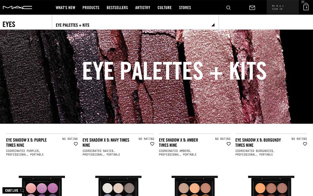 mac eye palettes kits