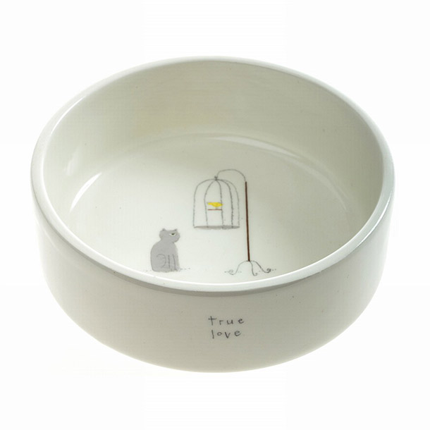 true love cat bowl