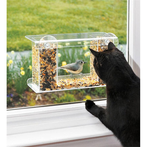 window mount see through feeder