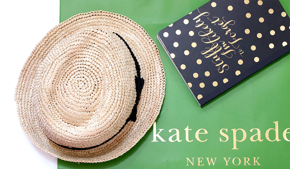 kate spade packable straw fedora