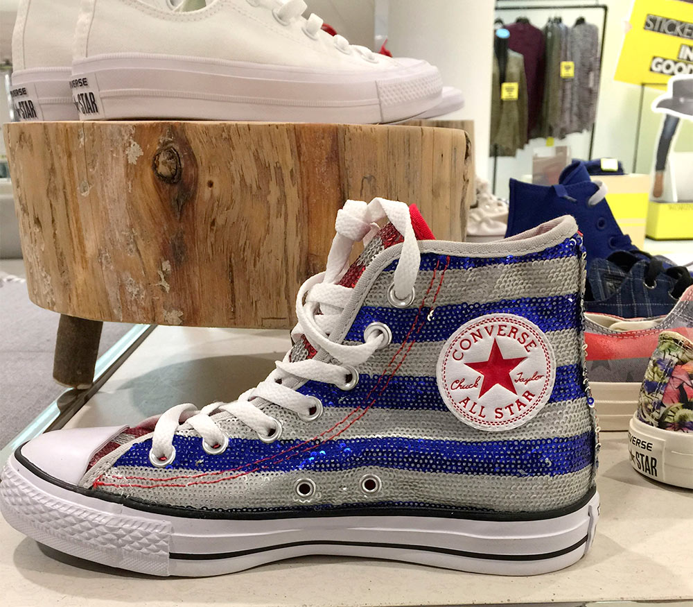 converse sequin flag high tops