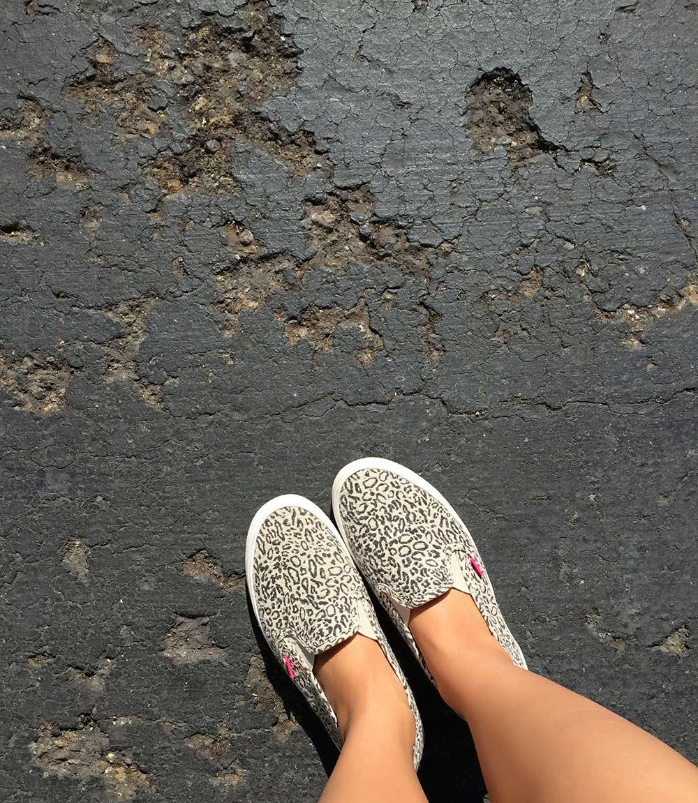 roxy leopard shoes