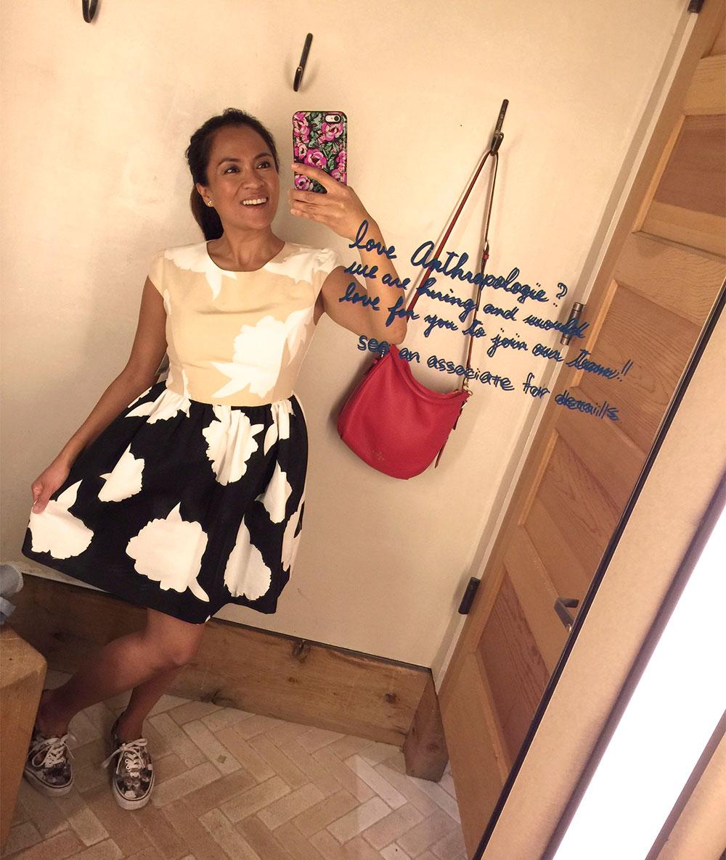 troubadour contrast study dress