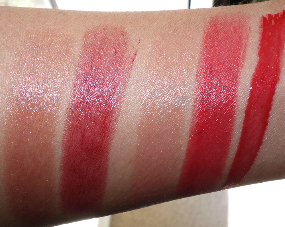 Chanel Rouge Coco Shine in 99 Melancolie,  Rouge Coco Shine in 112 Temeraire,  Rouge Allure in 162 Pensive, Rouge Allure Velvet in La Bouleversante and Glossimer in 212 Chene Rouge