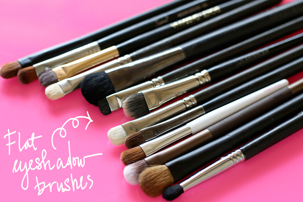 flat eyeshadow brushes