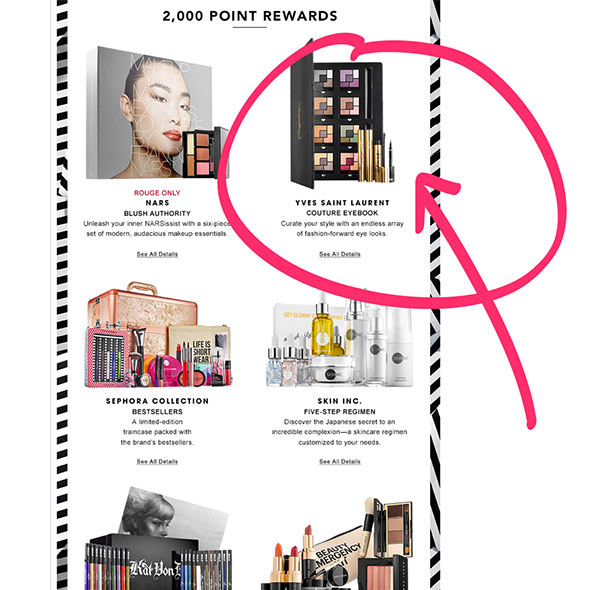 sephora-2000-point-reward