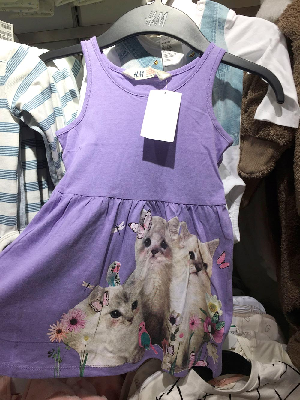 hm cat clothes purple dress