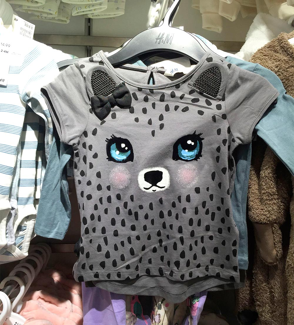 hm gray kitty shirt blue eyes