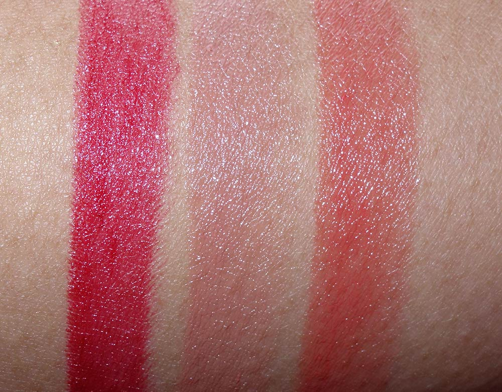 mac guo pei swatches lipstck